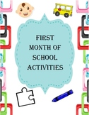 First month of the year activities and authorisation forms