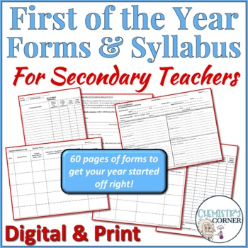First of the Year Forms & Syllabus for Secondary Teachers