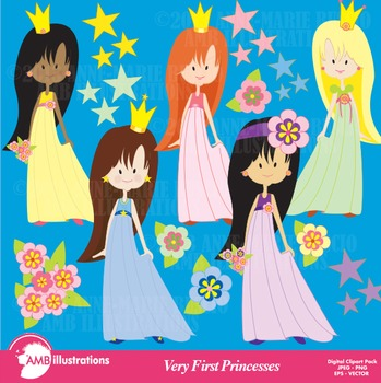 Princesses clipart, Princess Clipart, Fairy Princess Clip Art, AMB-215