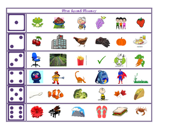 First sound Fluency Roll and Read