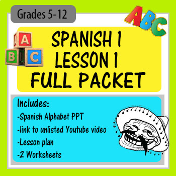 First-time First Spanish 1 Class COMPLETE Lesson
