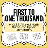 First to 1,000 {Addition & Subtraction Math Game}
