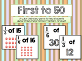 First to 50: Fractions of a Group Game