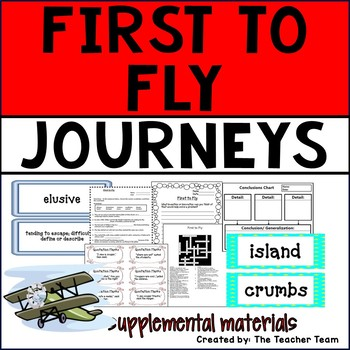 First to Fly Journeys 6th Grade Unit 5 Lesson 22 Activities & Printables