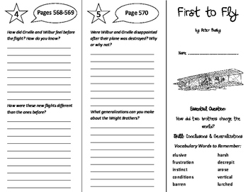 First to Fly Trifold - Journeys 6th Grade Unit 5 Week 2 (2