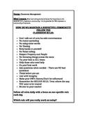 First week Class Management lessons
