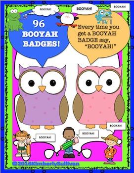 Back to School Booyah Badges Fun Unique
