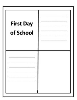 First week of school Memory Book
