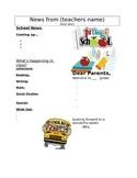 First week of school Newsletter Template