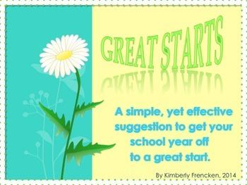 First week of school activity