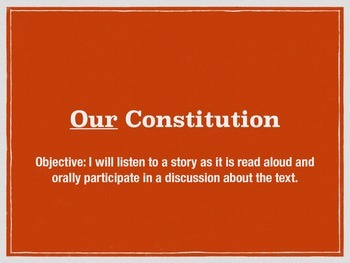 First week of school activity–the US constitution and classroom rules