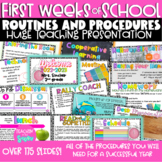 First week of school classroom rules, procedures and expectations powerpoint