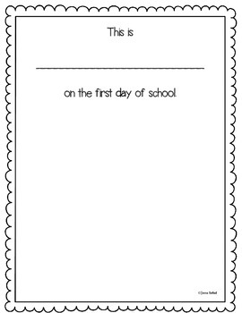 First/Last Day of School Activity