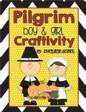 {.First.Thanksgiving.} Pilgrim Boy & Girl Craftivity!