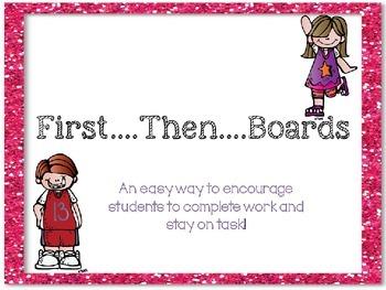 First...Then Behavior Board