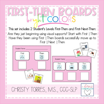 First/Then & First/Next/Then Behavior Management Boards with Symbols