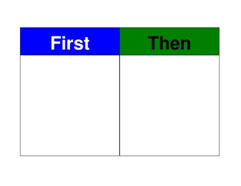 First/Then Schedule (autism)