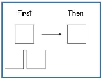 First/Then Visual Schedule- Fine Motor Activities