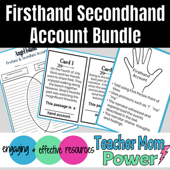 Firsthand Secondhand Account Bundle: Includes Paired Passages