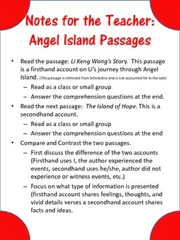 Firsthand Secondhand Account Paired Passages