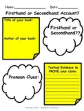 Firsthand-Secondhand Accounts Graphic Organizer