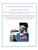 Firsthand and Secondhand Account Task Cards