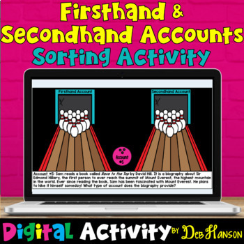Firsthand and Secondhand Accounts: A BUNDLE of activities!