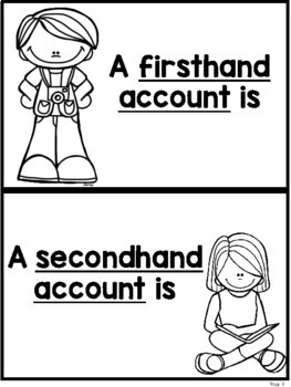 Firsthand and Secondhand Accounts Sorting Activity