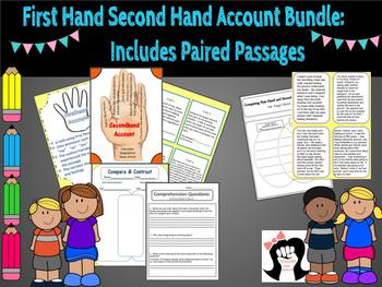 First hand second hand account bundle:  includes paired passages