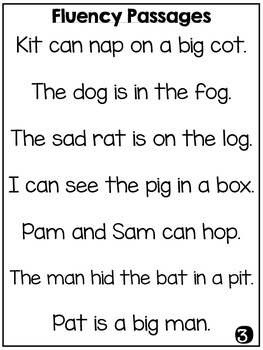 Firstie Fluency Sentences