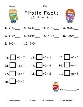 Firstie Math Facts
