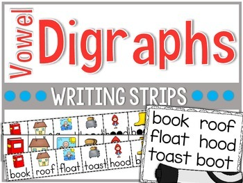 Firstie Vowel Digraphs Writing Strips
