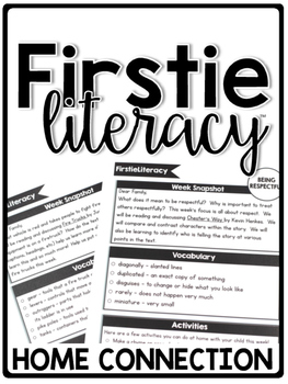 FirstieLiteracy™ Curriculum Home Connection