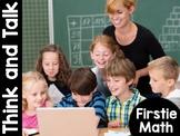 FirstieMath®: First Grade Math Think and Talk #FLASHBASH