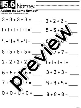 FirstieMath™ Unit Fifteen: 2nd Grade Prep