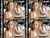 FirstieReaders Fiction and Nonfiction Levels: I-J BUNDLED  *ENGLISH AND SPANISH*