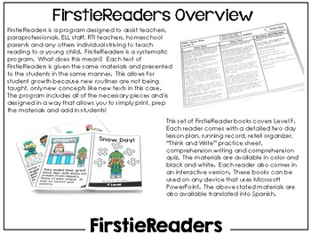 FirstieReaders Level: F *ENGLISH AND SPANISH*