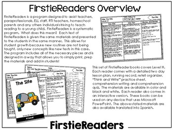FirstieReaders Level: H *ENGLISH AND SPANISH*