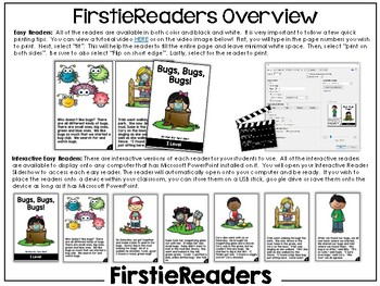 FirstieReaders Level: I *ENGLISH AND SPANISH*