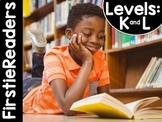 FirstieReaders Levels: K and L Fiction Bundle  *ENGLISH AN