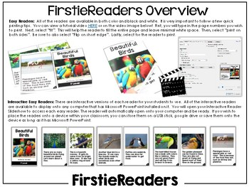 FirstieReaders™ Nonfiction Level: F *ENGLISH AND SPANISH*