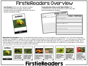 FirstieReaders Nonfiction Level: G *ENGLISH AND SPANISH*