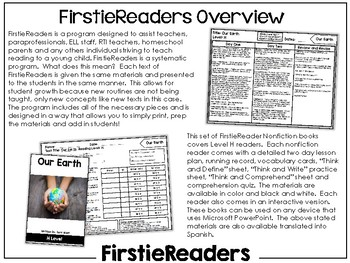 FirstieReaders Nonfiction Level: H *ENGLISH AND SPANISH*