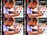 FirstieReaders® Nonfiction Bundle E-H Distance Learning + Homeschool Compatible