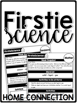 FirstieScience First Grade Science Home Connection - Newsletters