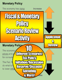 Fiscal & Monetary Policy Scenario Review Activity