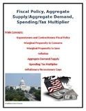 Fiscal Policy, Aggregate Supply/Demand, and Spending/Tax M