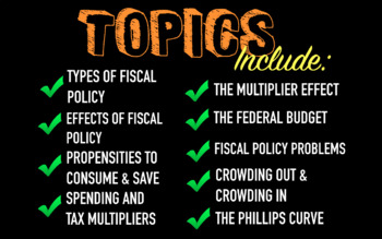 Fiscal Policy Deluxe Bundle - Keynote Version (MAC USERS ONLY)