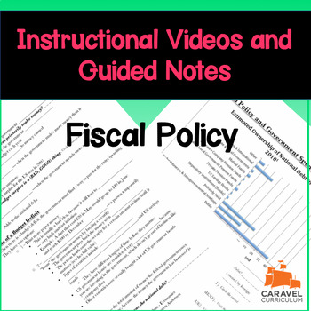Fiscal Policy Instructional Videos, Guided Notes, and Worksheet