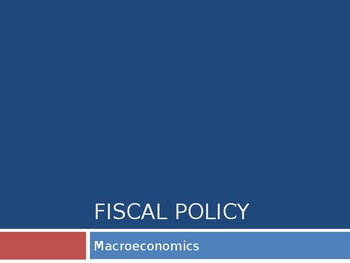 fiscal and monetary policy ppts 65 slides quantitative easing